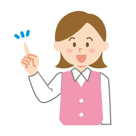 Proposed female company employee Ilustração