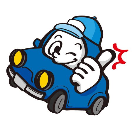 Traffic Safety Car Character