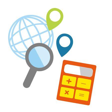 Calculator icons  イラスト・ベクター素材
