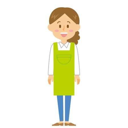 Housewife Smile Illustration