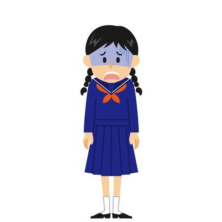 Women's Junior High School Student Shock