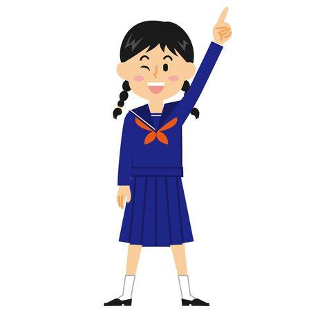 Women's Junior High School Students Hope Stock Illustratie