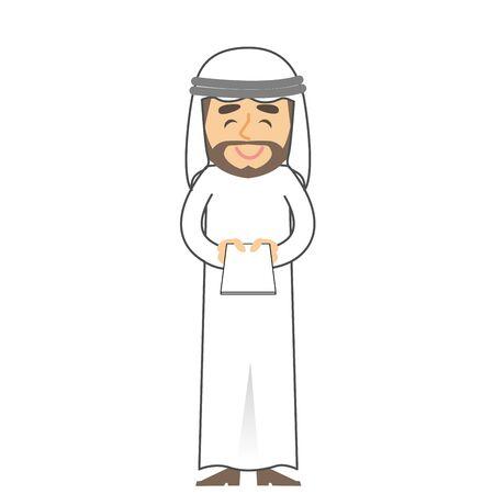 Arab Man Business Card Exchange