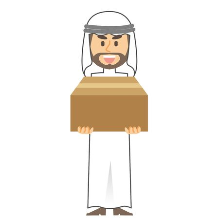 arab man cardboard