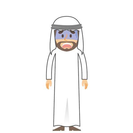 arab man shock 矢量图像
