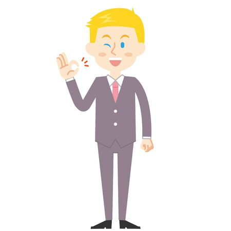 American Businessman good  イラスト・ベクター素材