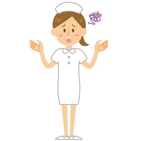 Nurse confused 向量圖像
