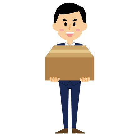 businessman luggage Illustration