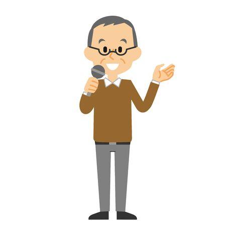 grandfather  speech Ilustração