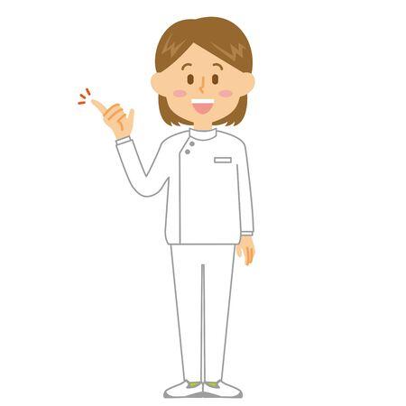 Caregiver Woman Proposal Ilustrace