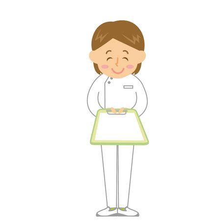 Caregiver Woman Medical Record