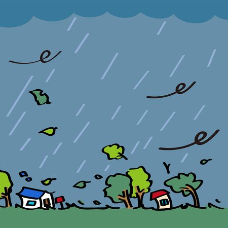Typhoons, storms caused by bad weather