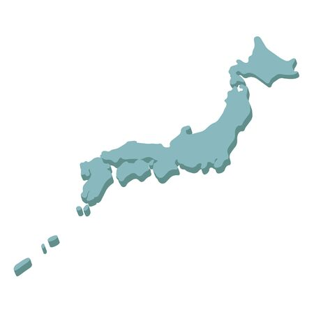 Three-dimensional Japanese Archipelago