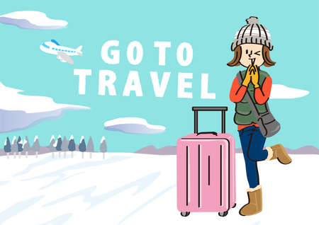 Winter image illustration of the go to travel campaign