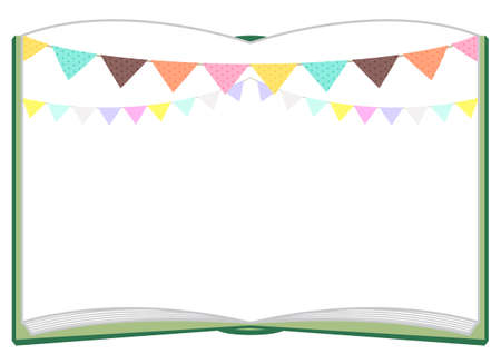 Album Background (Flag Garland) A4 Ilustracja