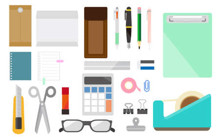 Summary of stationery items required for business