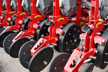 pneumatic tyres: Agricultural machinery in agricultural fair, seeder