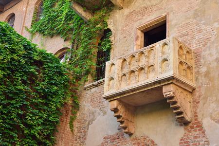 Balcony by Juliet house in Verona, Veneto region, Italy. Imagens