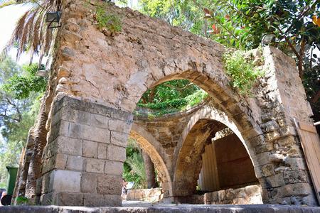 jaffo: stone old city Jaffa in Tel Aviv near museum