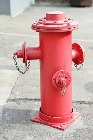 Red fire hydrant, fire safety system.