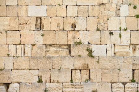 The Western wall or Wailing wall is the holiest place to Judaism in the old city of Jerusalem, Israel.