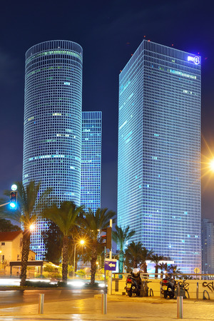 TEL AVIV, ISRAEL- APRIL, 2017: Night city, Azrieli center, Israel