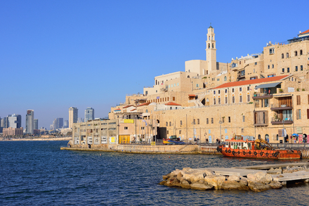 Old town and port of Jaffa of Tel Aviv city, Israel Stock Photo