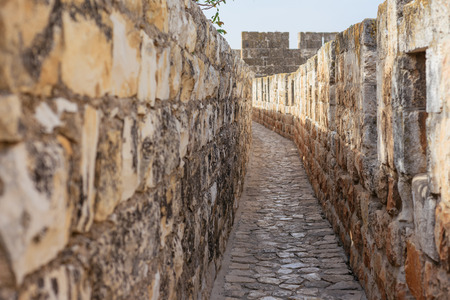 The walls surrounding the Old City of Jerusalem, ramparts walk along the top of the stone walls Reklamní fotografie