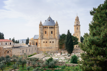 Armenian cemetery by St. James Cathedral Church in Jerusalem, Israel Stock Photo