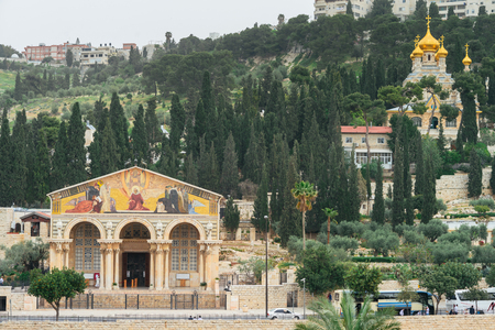 The church of All Nations on Olive Mountain in Jerusalem Editorial