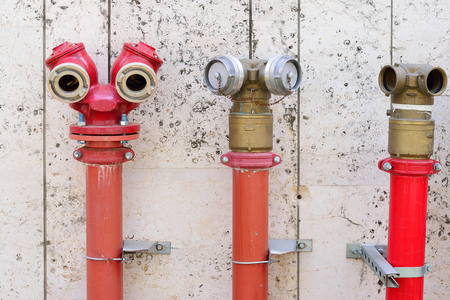 Funny red hydrant on a street of the old city of Tel Aviv, Israel.