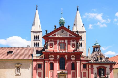 St. George's Basilica In Prague, Czech Republic Standard-Bild - 111640356