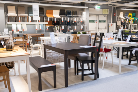 ST. PETERSBURG, RUSSIA - MARCH, 2019: IKEA store interior, furniture Department for offices.