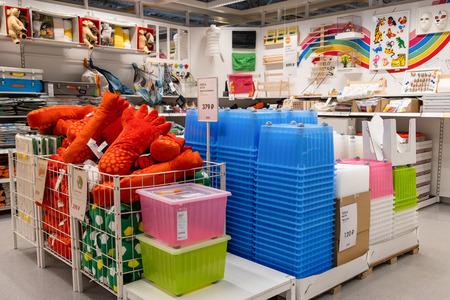 ST. PETERSBURG, RUSSIA - MARCH, 2019: Swedish store IKEA, a Department of childrens goods, furniture, toys, useful stuff. Redakční