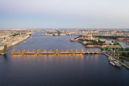 Petersburg Russia. Petersburg bridges. Trinity Bridge. White nights in Petersburg. Cities of Russia.