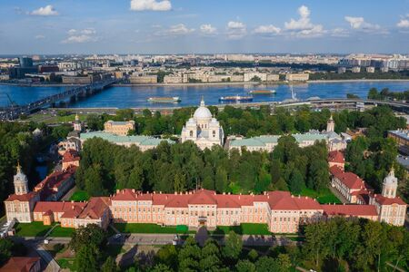 Alexander Nevsky Lavra (Monastery) in Saint Petersburg, Russia. Holy Trinity Cathedral Imagens