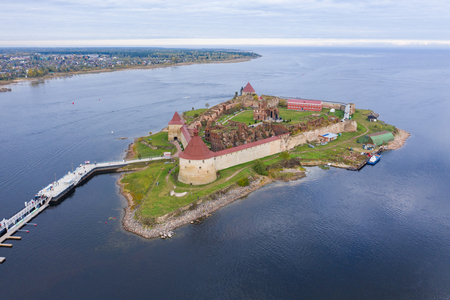 Saint Petersburg. Russia. Fortress Oreshek. Ancient Russian fortress on lake Ladoga. Leningrad region. Museums of St. Petersburg. Neva River. Ladoga lake. Travel to Russia Editorial