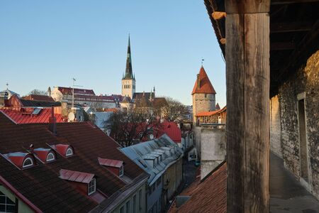 View of Tallinn Historical center, with old town, Republic of Estonia