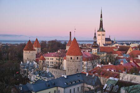 Panorama of the old town of Tallinn, Estonia