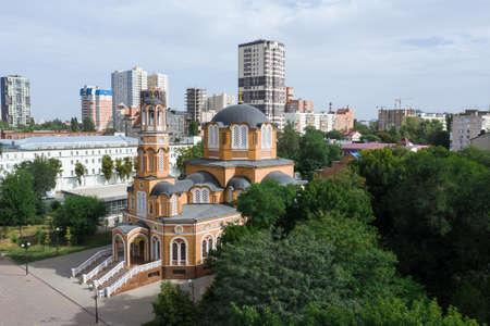Annunciation Church in Rostov-on-Don, Orthodox Greek Church in Russia 写真素材