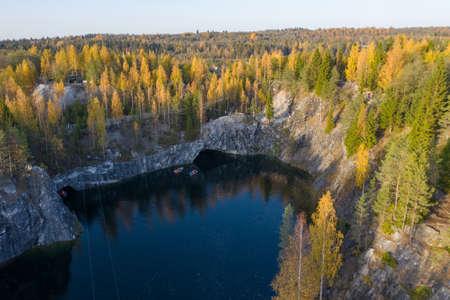 Marble canyon Ruskeala, Karelia, Russia 写真素材