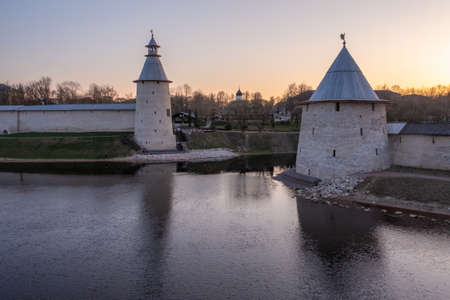 Pskov Kremlin towers, welcome to Russia.