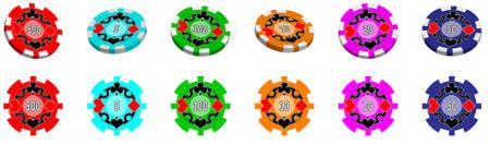 Poker Chips Stock Vector - 12471554