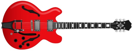 frets: Red Guitar