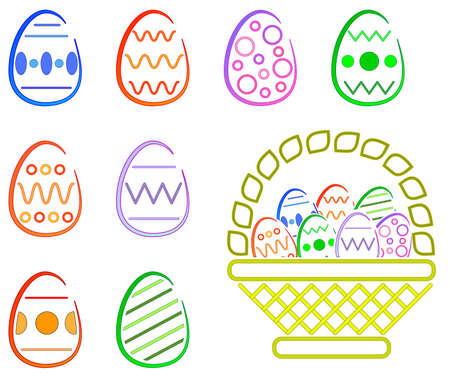 Easter Eggs and Basket -  Clean