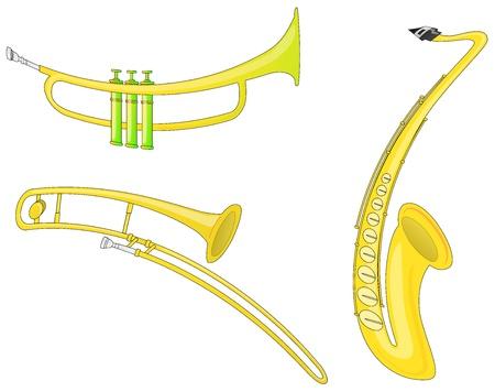 Musikinstrumente (Vector) Standard-Bild - 13434208