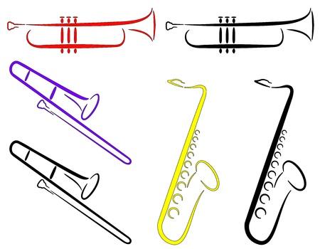 楽器: 楽器 - 抽象的な。(ベクトル)  イラスト・ベクター素材