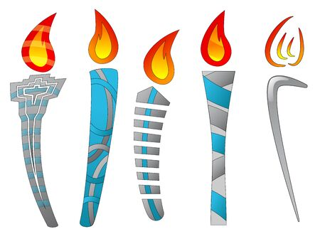 Several torch designs (Abstract) Vector