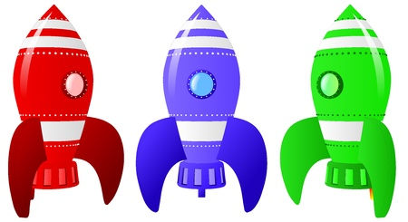 Rocket Ships Illustration