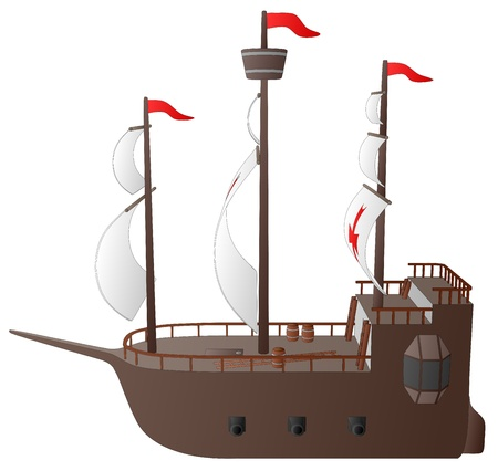 caravel: Galleon (Side View)
